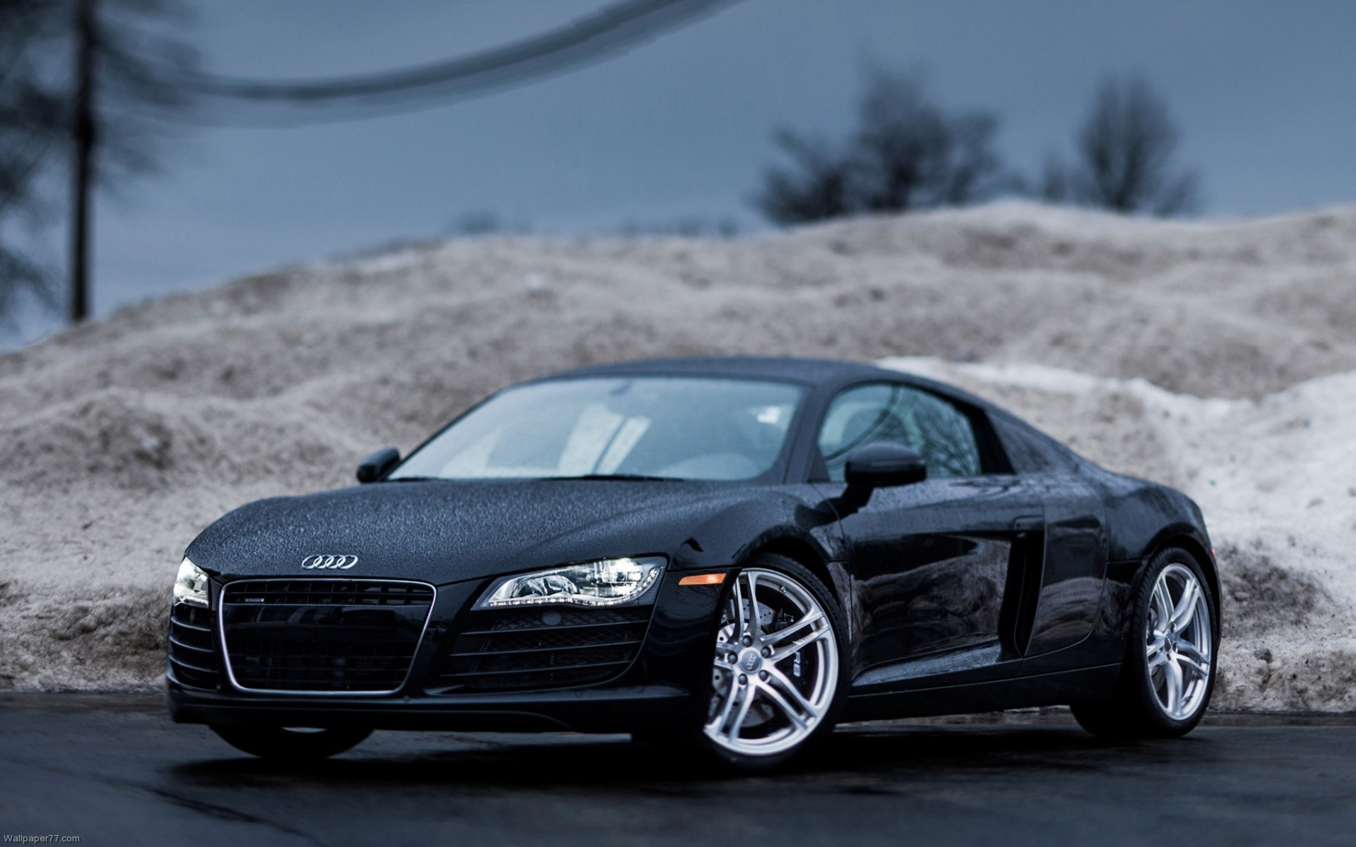 Audi Black Cars Wallpapers 14