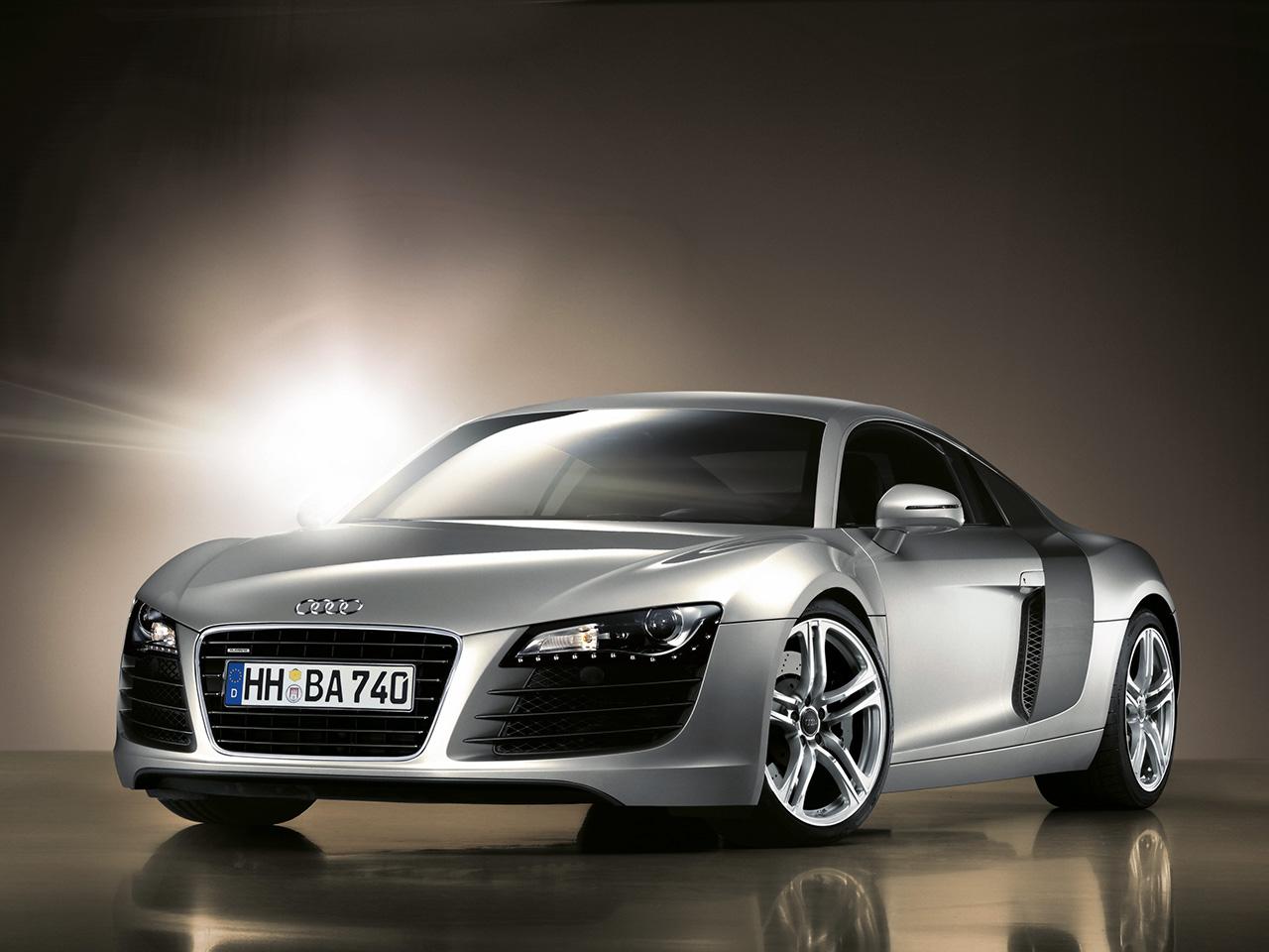 Audi R8 Black And White