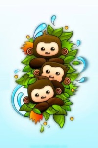 Cartoon Baby Monkey Wallpaper 4 200×300