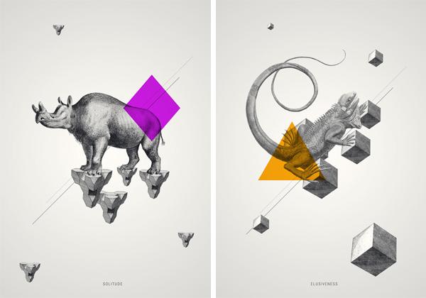 geometric animal wallpaper