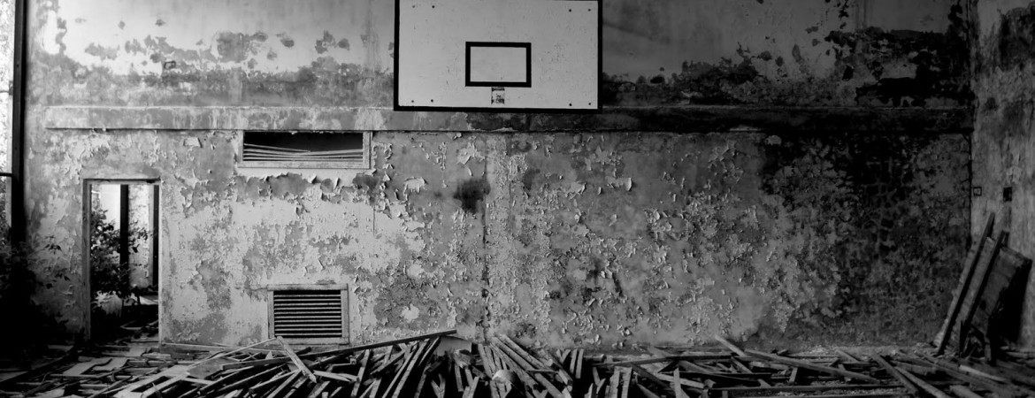 Basketball Court Fallen