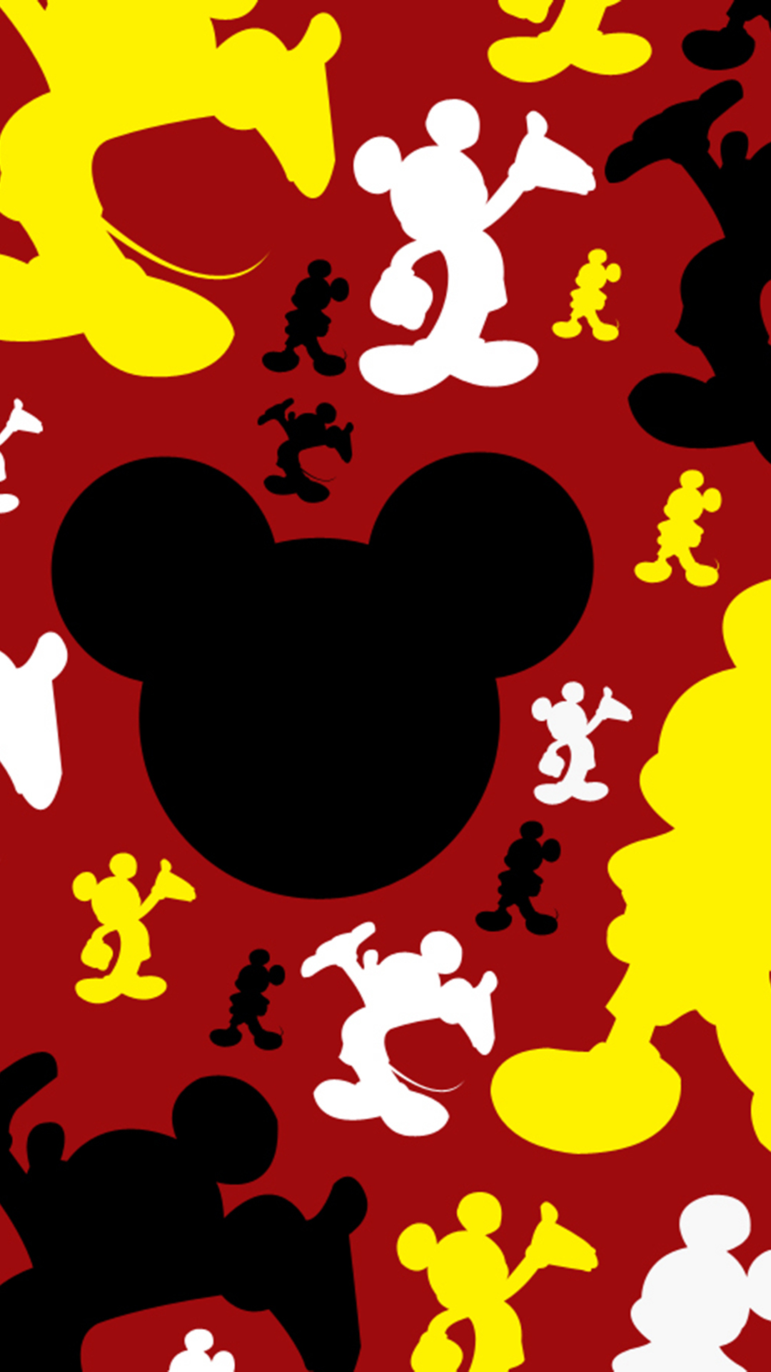 pics photos mickey mouse on black iphone wallpaper