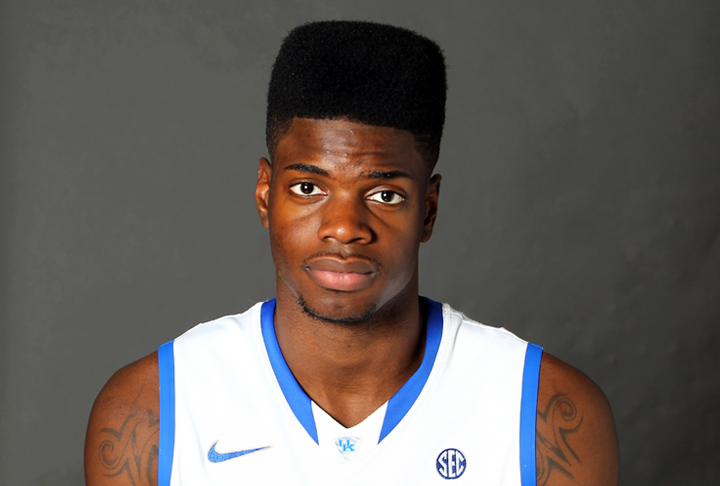 The 23-year old son of father (?) and mother Dorcina Noel, 211 cm tall Nerlens Noel in 2017 photo