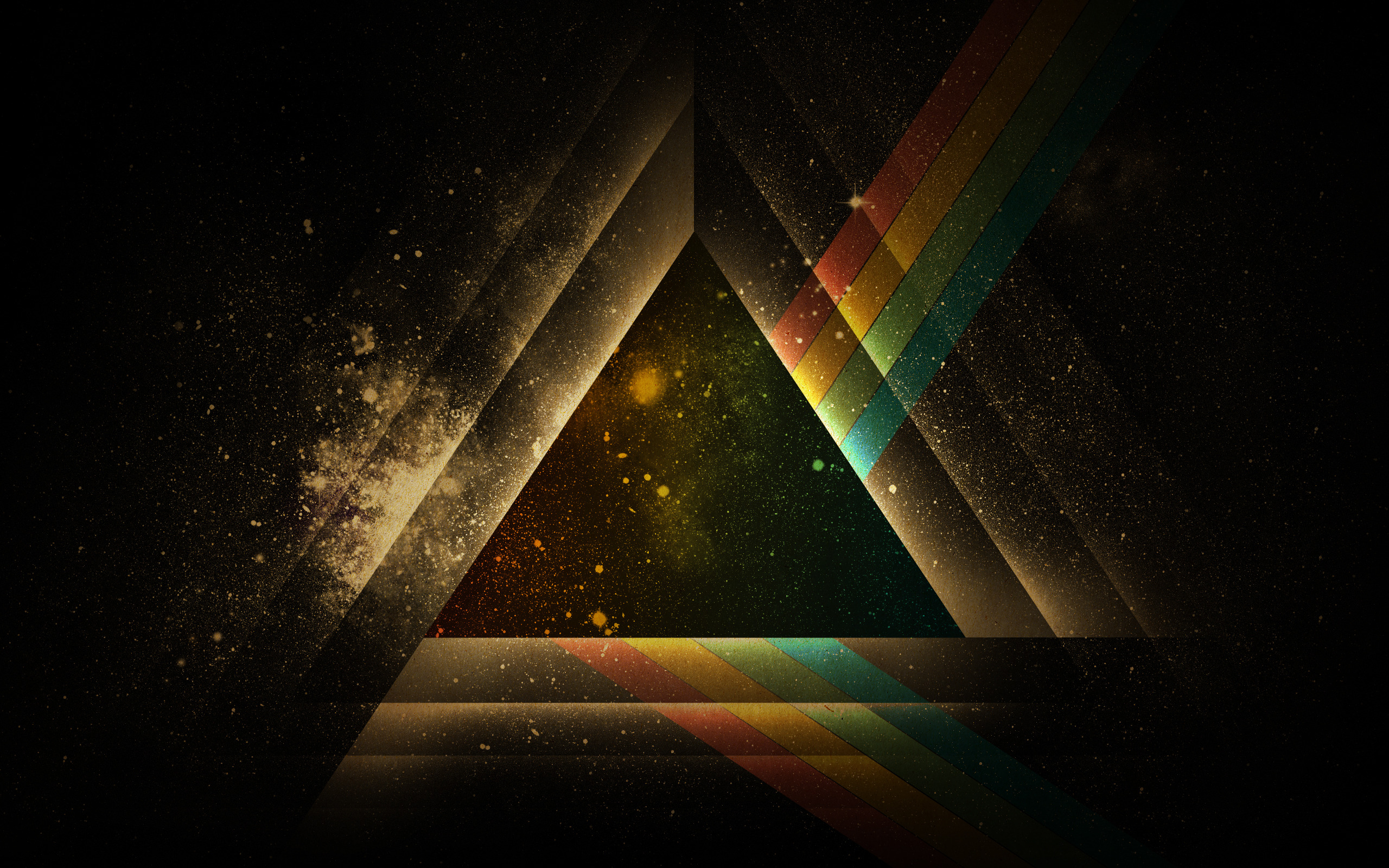 White Geometric Triangle Wallpaper 14