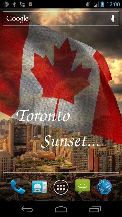 Canada Flag 3d Wallpaper 5