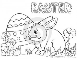 Easter Bunny Coloring Pages 8 300×232