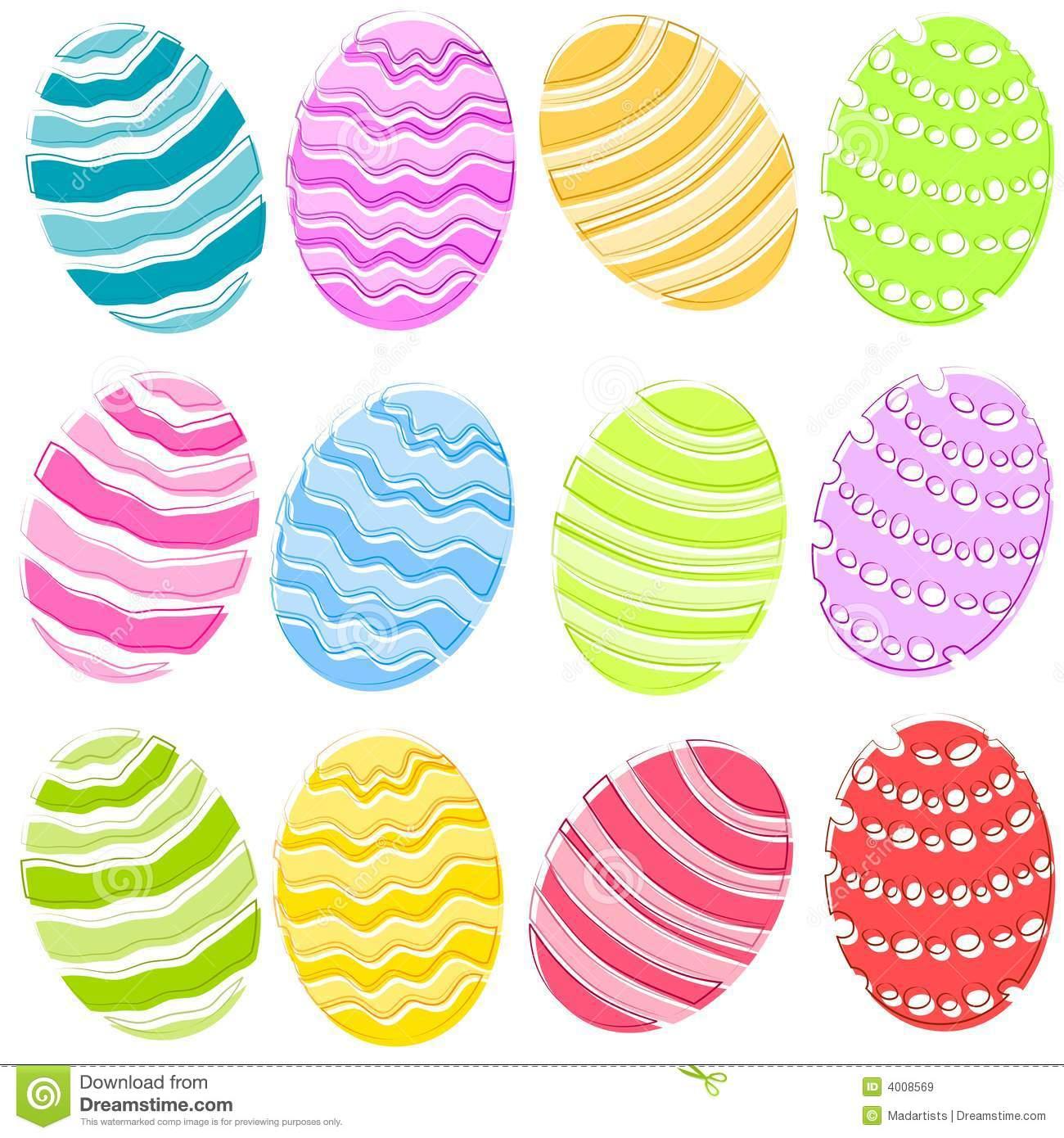Easter Eggs Clip Art 4