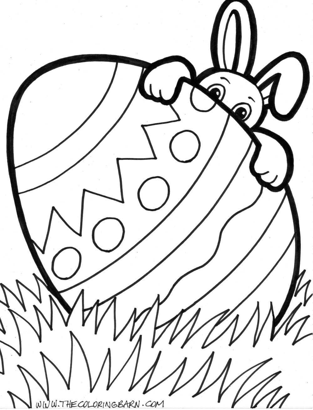 Easter Eggs Coloring Pages 20