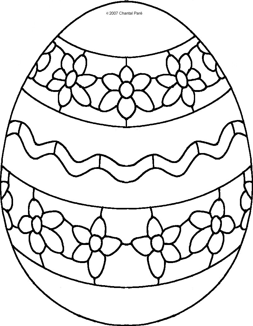 Images Easter Egg Designs Coloring Pages