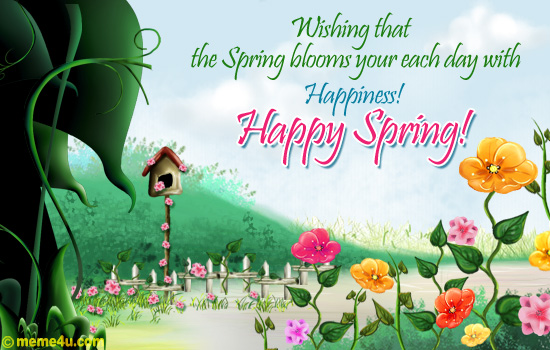 Happy Spring Day Cards 8