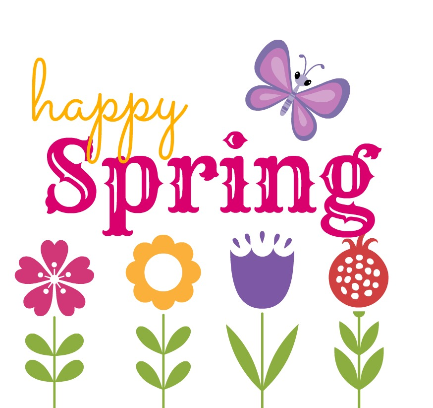 happy first day of spring clip art