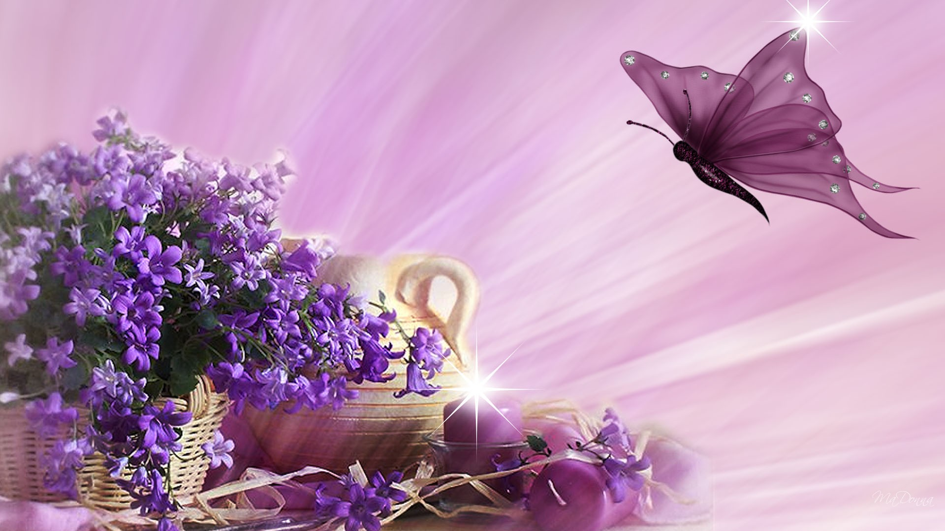 Spring Flowers And Butterflies Wallpaper 8