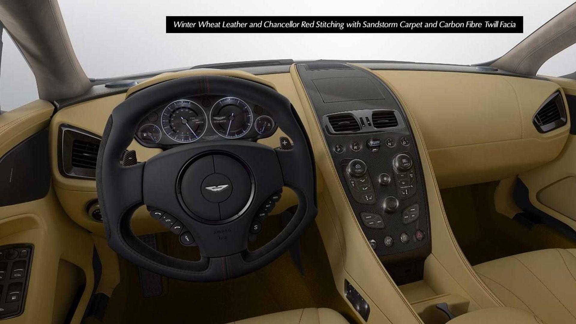 Winter Weat Aston Martin Vanquish Dashboard