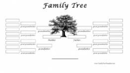3 Generation Family Tree Template 4 300×232