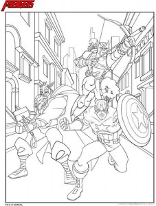 Avengers Pictures To Color 17 227×300