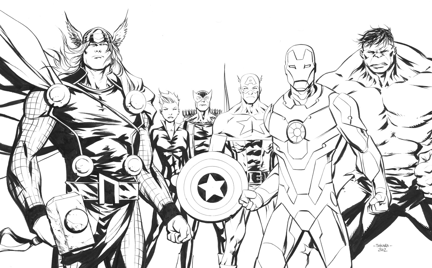 Avengers Pictures To Color 20