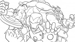 Avengers Pictures To Color 29