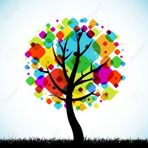 Colorful Family Tree Background 2 300×300
