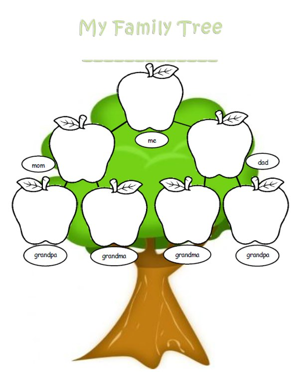 Family Tree Template: Family Tree Printable Leaves