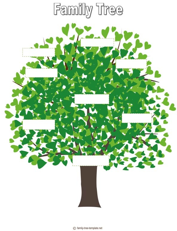 Family Tree Template For Kids Project 4