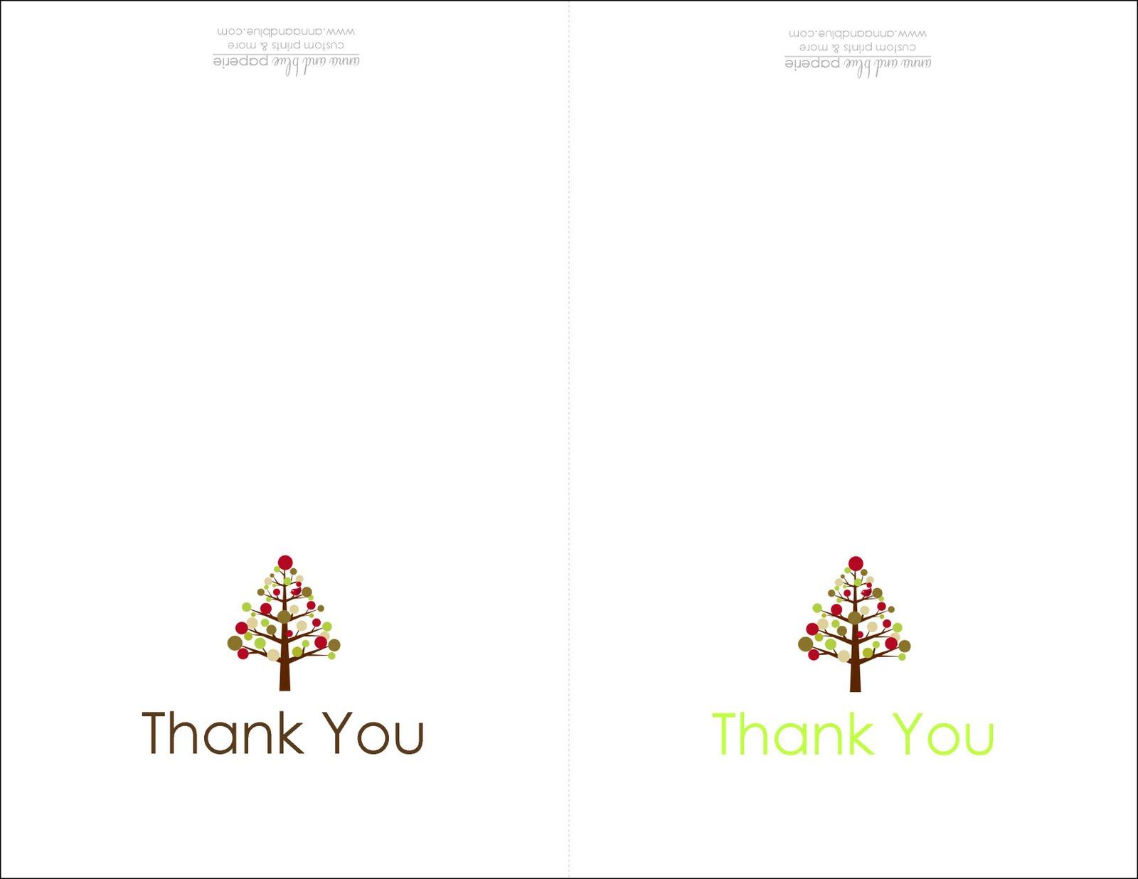 Free Printable Thank You Card! — Crafthubs
