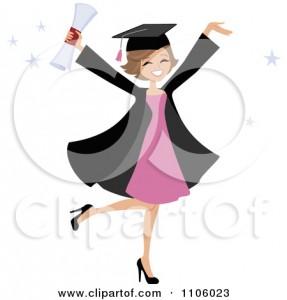 Graduation Girl Clip Art 287×300