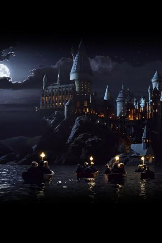 hogwarts castle iphone wallpaper