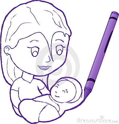 mom and baby drawing mother and baby drawing 22348540 mother holding baby in the sling
