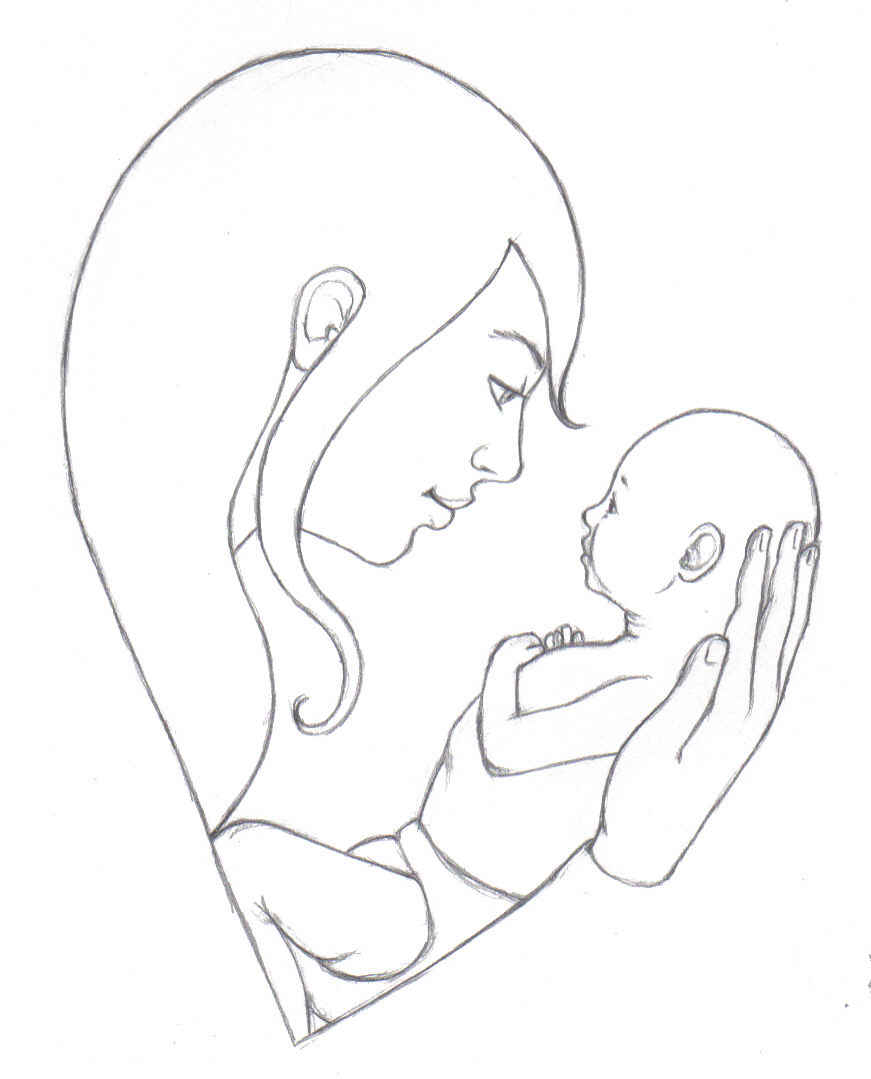 Mother, Baby & Love Drawings | The Art Mad Wallpapers: theartmad.com/mother-baby-love-drawings