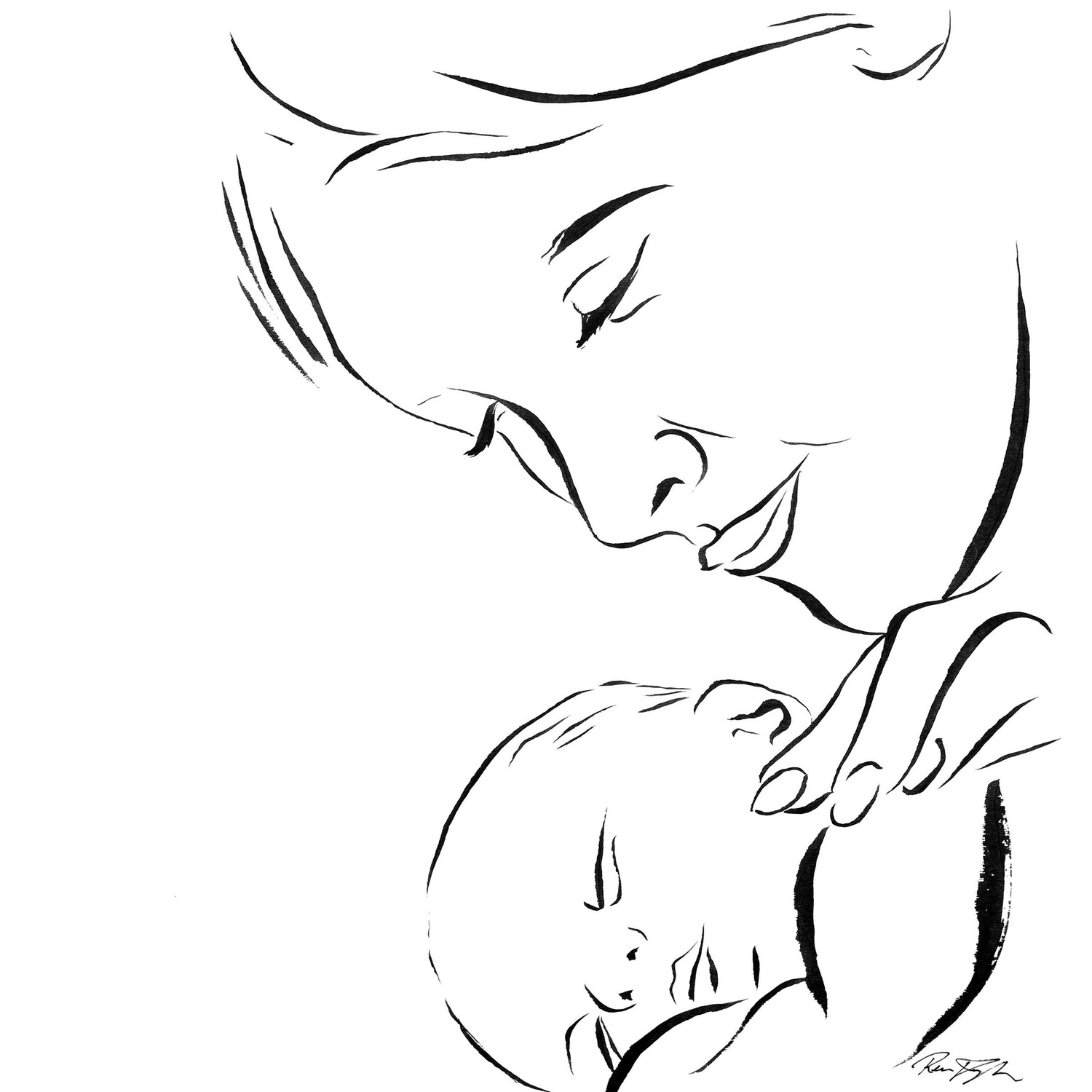 Mother And Baby Love Drawing 41