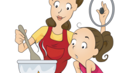 Mother Cooking Clipart