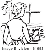 Mother Cooking Clipart...
