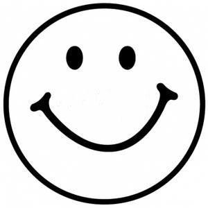 Smiley Face Black And White 2