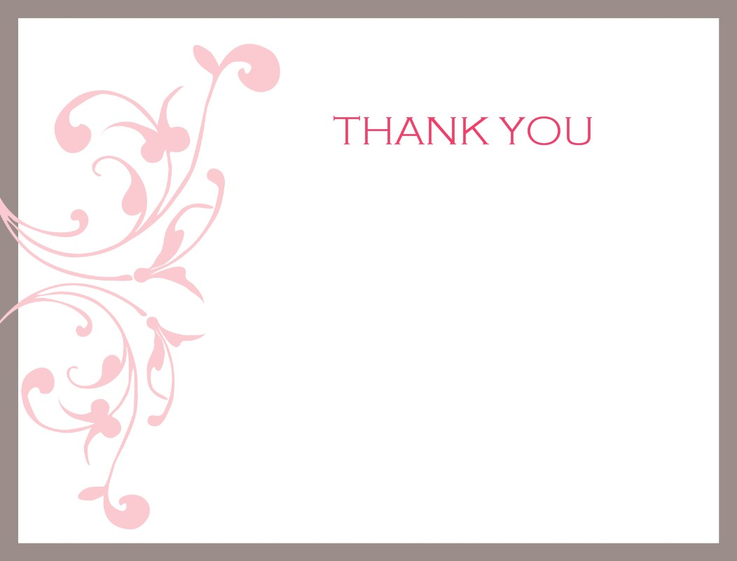 thank you card templates free