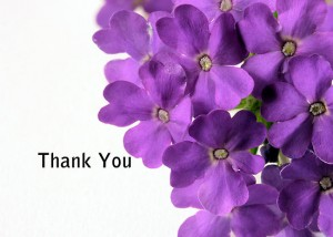 Thank You Purple Flowers 3 300×214