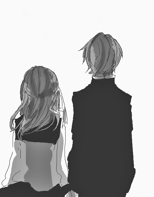 Anime Love Black And White