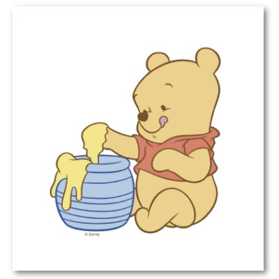 Baby Winnie The Pooh With Honey 2