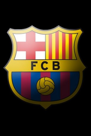 Barcelona Logo Black Background 2