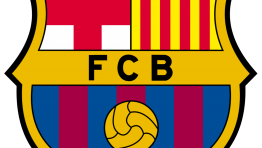 Barcelona Soccer Team Logo Outline 2