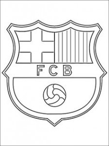 Barcelona Soccer Team Logo Outline 5 224×300