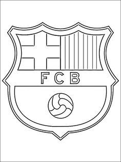 Barcelona Soccer Team Logo Outline 5