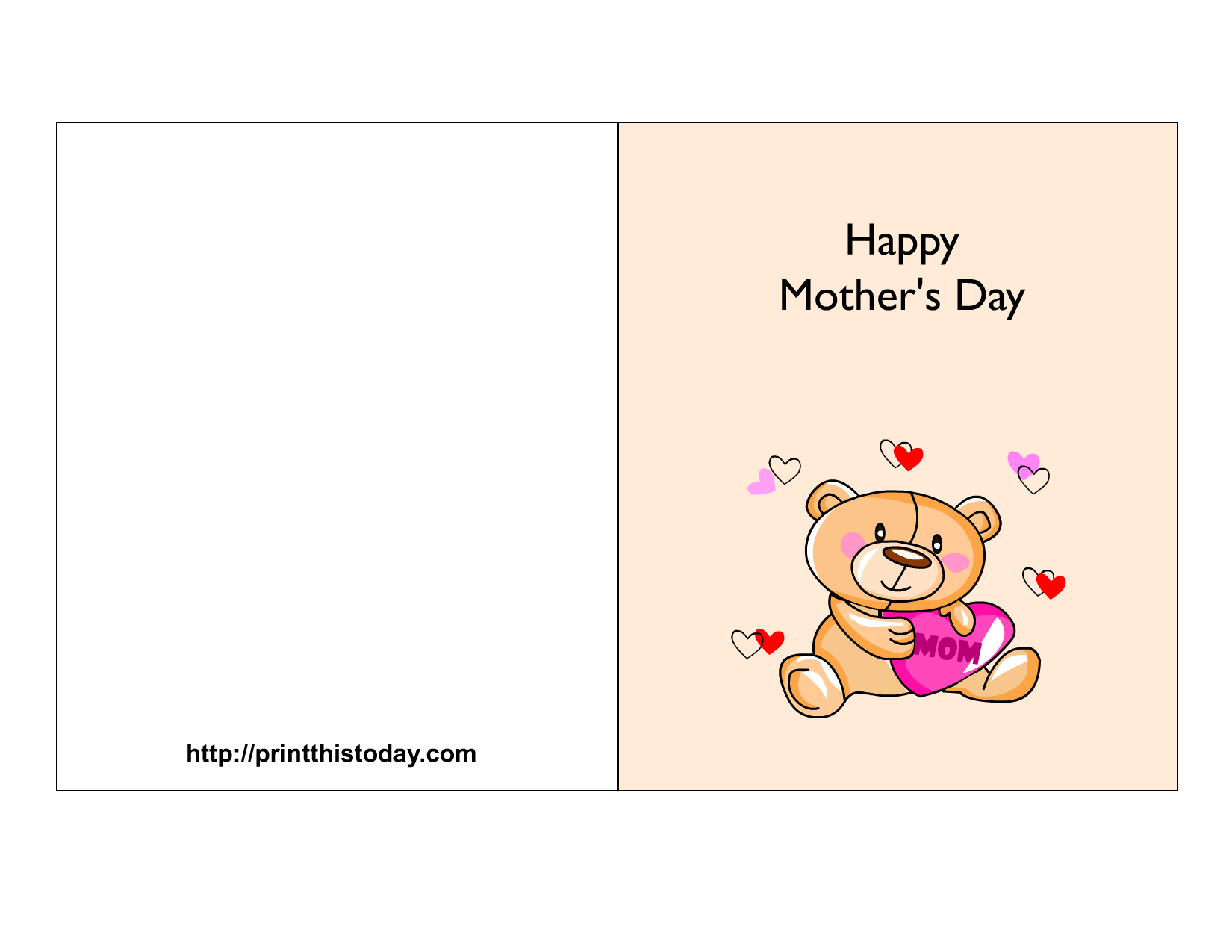 Cute Happy Mothers Day Card 1