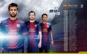 FC Barcelona Team Wallpaper 2013 6 300×188