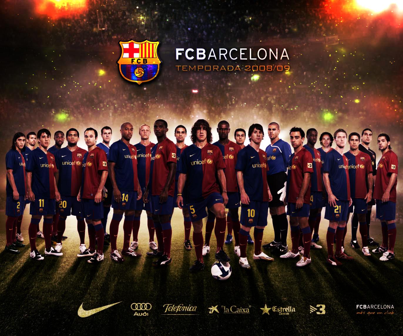 Fc Barcelona Team Wallpaper 1