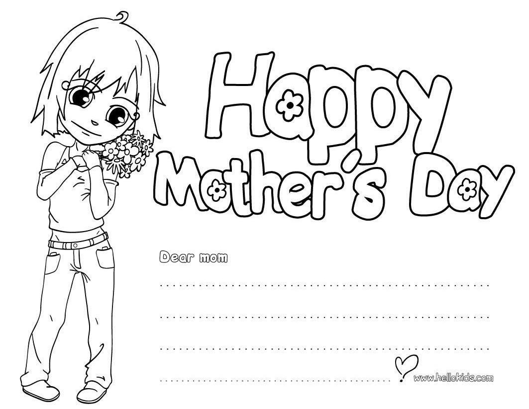 Happy Mothers Day Card Black And White 1