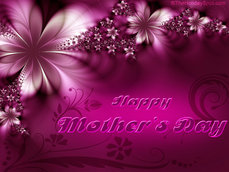 Happy Mothers Day Purple Flowers 4