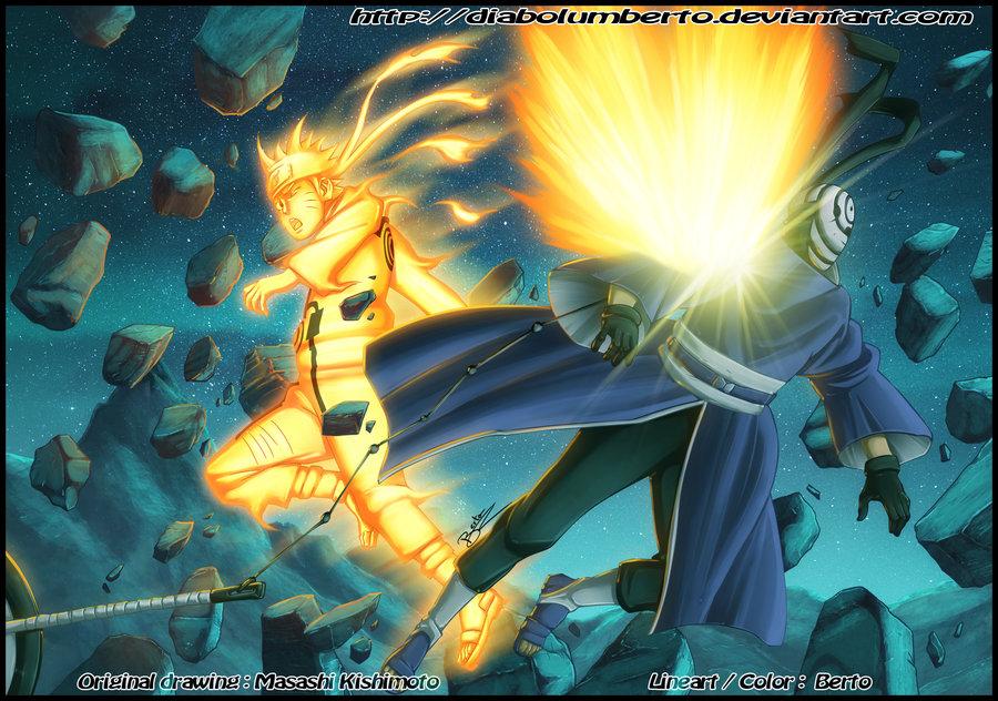 Naruto Shippuden Wallpaper Tobi Vs Naruto 1