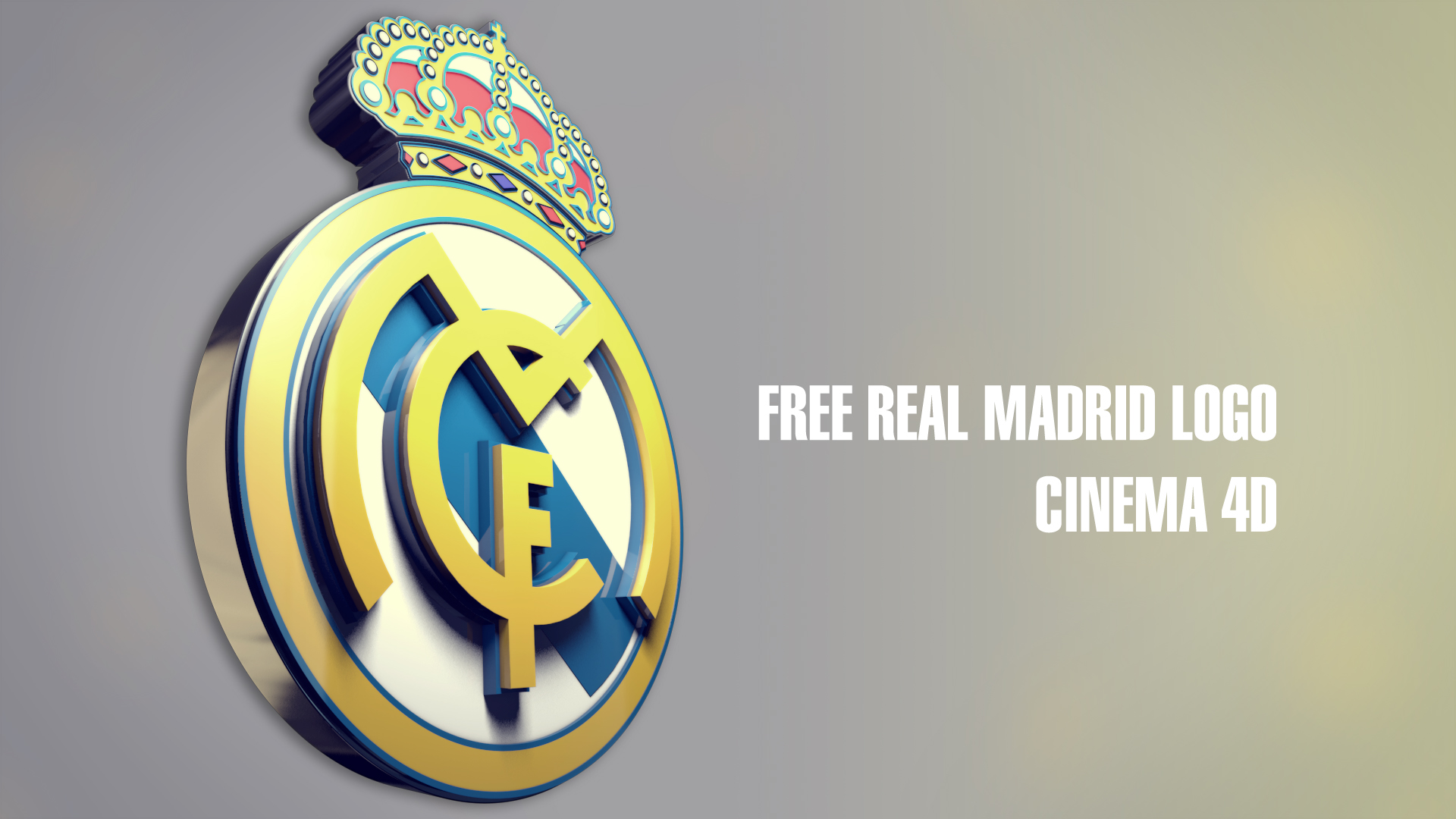 Real Madrid Logo 3d 2