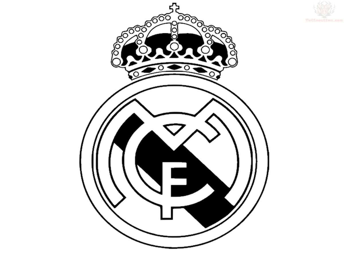 Real Madrid Logo Black And White Vector : Real Madrid Logo Black And ...