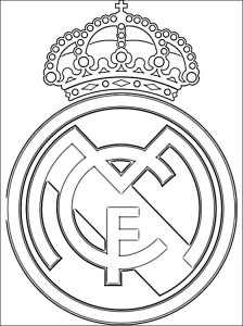 Real Madrid Logo Coloring Pages 5 224×300